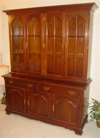 Solid Cherry 2 Piece Lighted China Cabinet
