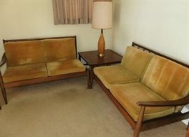 Wytheville, Virginia Mid Century Modern Wythe-Craft Sectional Sofa, Arm Chair & End Table