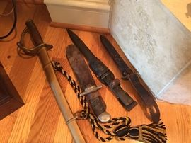 sword, knives