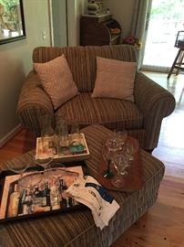 Bassett chair and 1/2 with ottoman