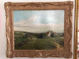 "Charles Simms (1835-1883), ""Near Horsham, Sussex 1862"" on verso"
