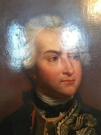 Information on the back of the painting indicates the man is Ulrich Frederick Woldemar