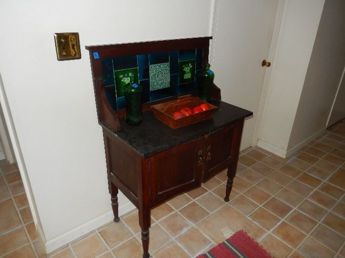 Old Marble Top hutch
