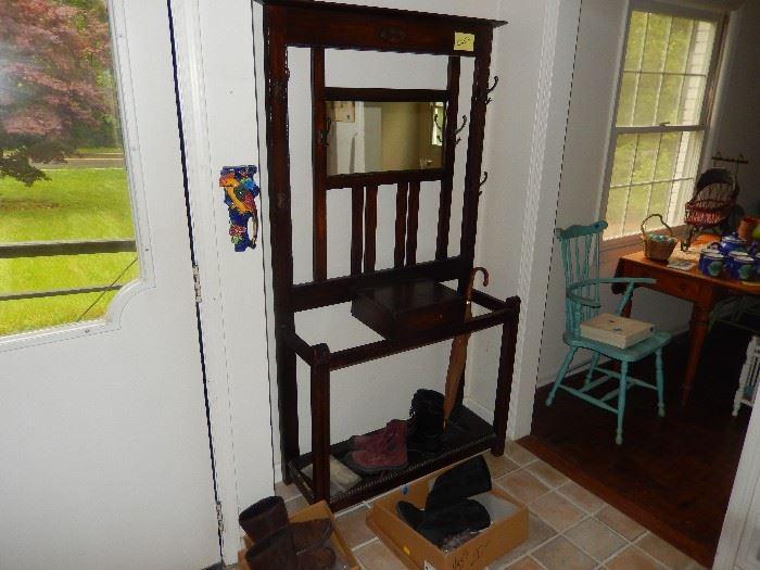 Antique oak Coat Stand