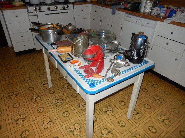 Vintage Porcelain Tables