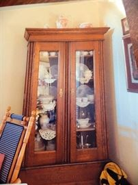 China hutch with delicate details