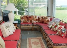Vintage Rattan Sectional-pillows sold separately