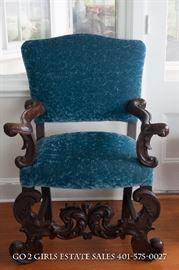 Jacobean Velvet Chair