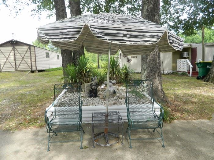 Lawn furniture and cement statuary