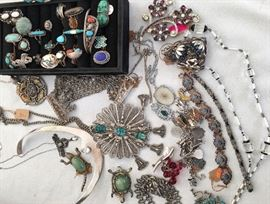Fun and funky Vintage jewelry and rings
