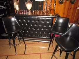 Vintage bar and 3 stools