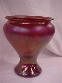 Lotex art glass vase