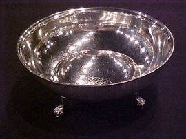 Sterling silver footed dish 15.3 oz Black Starr & Frost