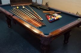 Olhausen pool table.
