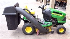 "John Deere 100 Series Riding Lawn Tractor, Model 115 Automatic, 42"" Deck, Original Manual, Grass Catcher / Bagger"