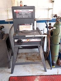"Sears Craftsman 12"" 2 Speed Bandsaw, Tilting Head, 4 Spare Blades, More"