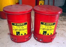 Justrite Oily Waste Cans, Qty 2