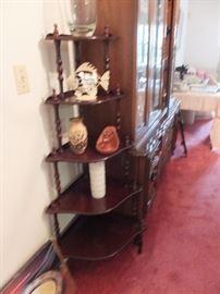 corner tiered shelves