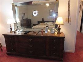 Bassett bedroom set - dresser and mirror