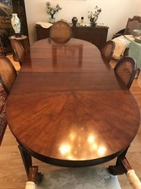 Top of the Line Vintage Kindel Solid Walnut Dining Set