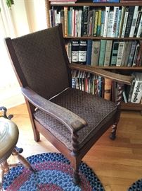 Stickley Bros. Grand Rapids rope twist arm chair