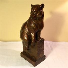 Dan Ostermiller, Patinated Bronze Bear, Ca: 2000, 6/20 edition.  Well listed Western Artist.