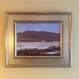 "Len Chmiel, Well Listed Colorado Artist, born 1942 , Title: ""Melt Down Goodale Cutoff""  12"" x 16"""