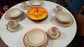 Spiced Pumpkin dinnerware...more in cupboard!