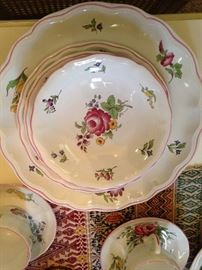 "English Spode ""Marlborough Spray"" earthenware (8 place settings and serving pieces)"