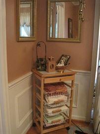 mirrors & cart