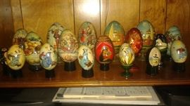Very Special, unique, and beautiful Hand Painted Russian Eggs