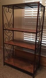 Made-to-Last Iron and Tile Etagere (2) Custom Made