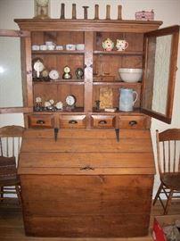 Antique Kitchen Step back Cupboard