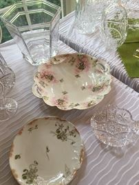 Limoges and other hand painted china.