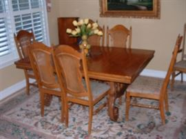Second dining table and chairs