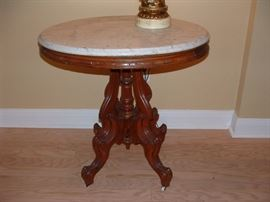 Antique mahogany lamp table