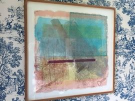 Modern Watercolor Middleboro by Sam Gilliam 10/28 1976 (26.5'')