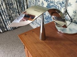 David Herscher -Polished Chrome - Two Piece Kinetic Sculpture