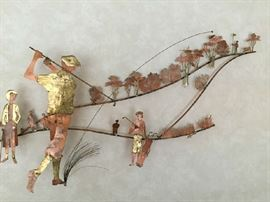 Large Copper wall Sculpture by Bijan circa 1970