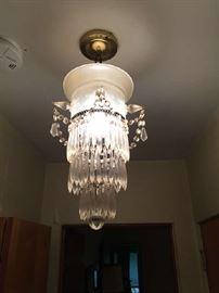 3 Crystal chandeliers