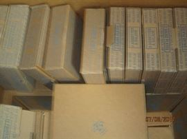 Blue willow China still in boxes