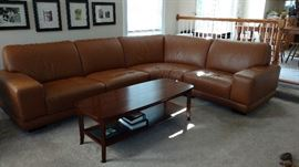 Shilling Fine Leather Sectional Sofa