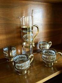 Kitschy Glass Serving Set