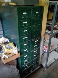 another multi drawer industrial cabinet on wheels