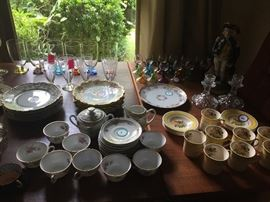 Beautiful pieces of vintage glassware and fine antique china - in excellent collection.