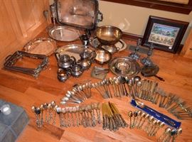 selection of silverplate - Gorham, Reed & Barton, Rogers Bros.; International, etc.