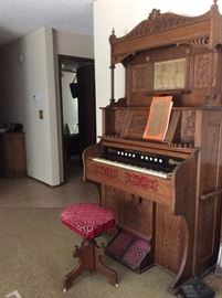 George Bent Victorian/Antique pump organ