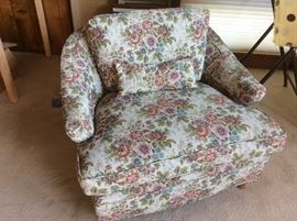 Retro floral side chair