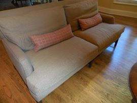 Custom Made Sofa by A.Rudin, Los Angeles California, Purchased at the Mart. Cocoa Brown