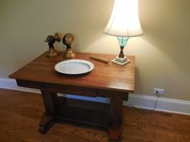 Vintage Oak Sofa, Entry Way table with Drawer